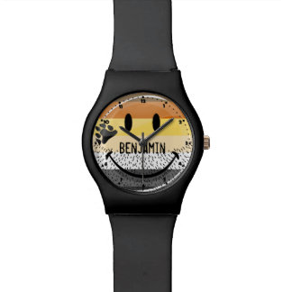 Funny Bearded Happy Gay Bear Pride Flag Watch