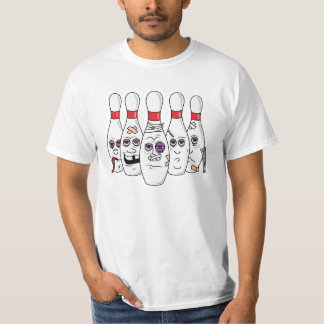 Funny Beat Up Bowling Pins SPARE US T-Shirt