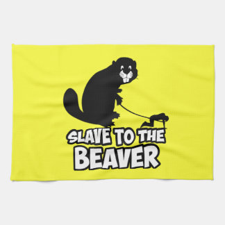 Funny Beaver Kitchen Towel
