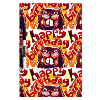 funny beaver with happy birthday text Dry-Erase boards