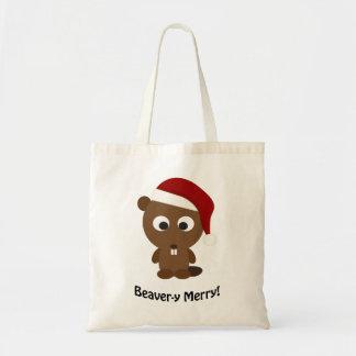 Funny Beaver-y Merry! Santa Beaver