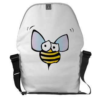 Funny Bee Courier Bags