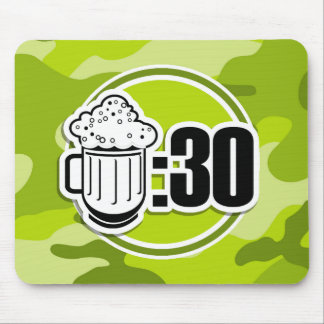 Funny Beer 30 bright green camo camouflage Mouse Pad