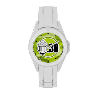 Funny Beer : 30, bright green camo, camouflage Watch