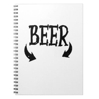 Funny Beer Baby  Mens Matching Pregnancy Spiral Notebook