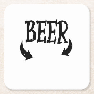 Funny Beer Baby  Mens Matching Pregnancy Square Paper Coaster