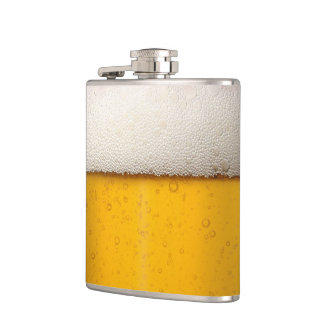 Funny Beer Bubbles Hip Flask
