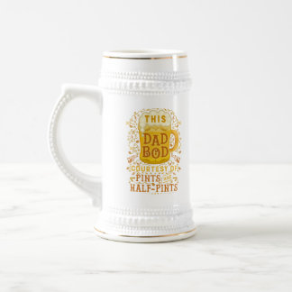 Funny Beer Dad Bod Humorous Fathers Day Joke 18 Oz Beer Stein