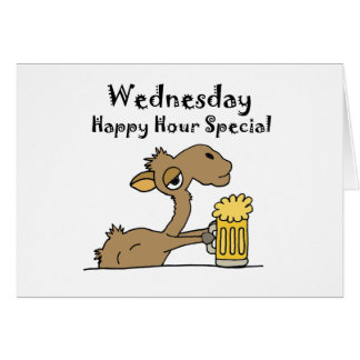 Funny Beer Drinking Camel Card