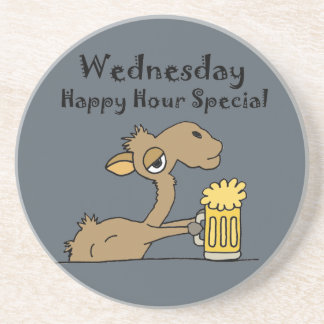 Funny Beer Drinking Camel Coaster
