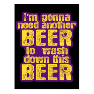 Funny Beer Drinking Post Card