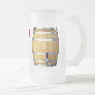 "Funny Beer Keg ""I'd Tap That"" Frosted Glass Beer Mug"