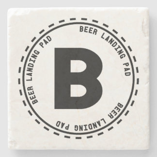 Funny Beer Landing Pad Stone Coaster