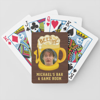 Funny Beer Me Drinking Humor | Custom Photo Bar Bicycle Playing Cards