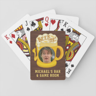 Funny Beer Me Drinking Humor | Custom Photo Bar Playing Cards