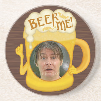 Funny Beer Me Drinking Humor | Personalized Photo Coaster