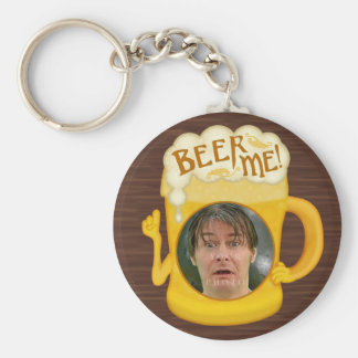 Funny Beer Me Drinking Humor | Personalized Photo Keychain