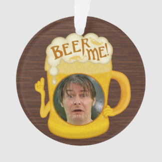 Funny Beer Me Drinking Humor | Personalized Photo Ornament
