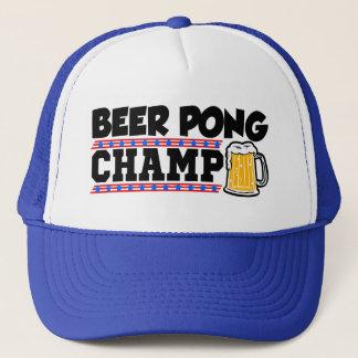Funny Beer Pong Champ hat