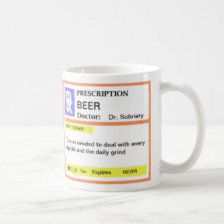 Funny Beer Prescription Coffee Mugs