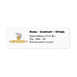 Funny Beer Return Address Label