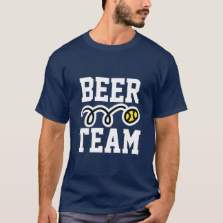 Funny 'Beer Team' tennis t-shirt