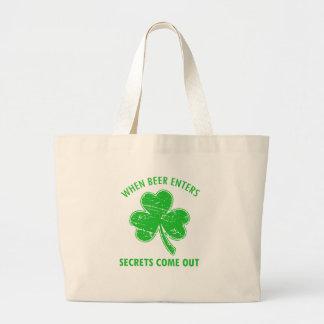 funny beer tees large tote bag