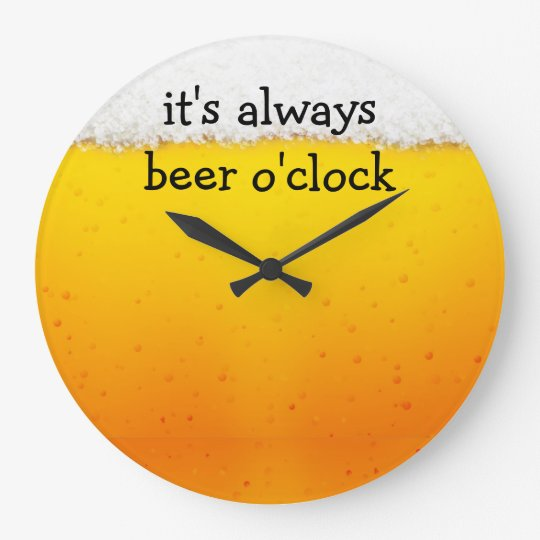Funny Beer Theme Wall Clocks