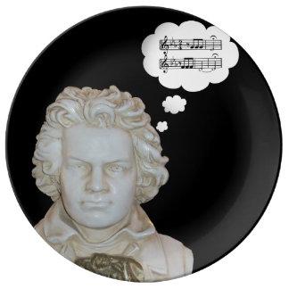 Funny Beethoven Bust Dinner Plate Porcelain Plates