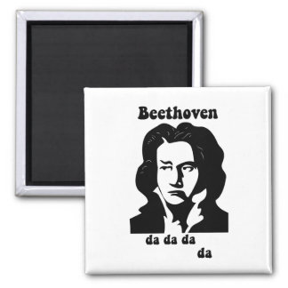 Funny Beethoven Square Magnet