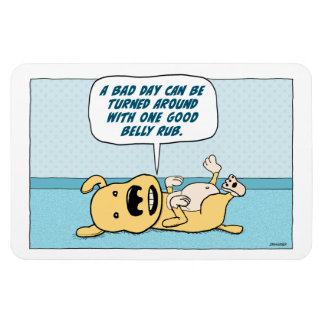 Funny Belly Rub Dog magnet