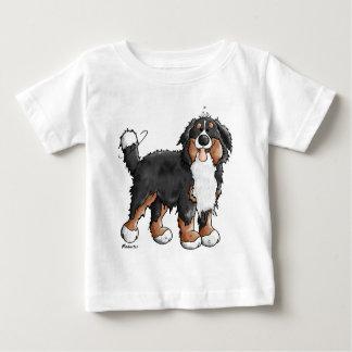 Funny Bernese Mountain Dog Cartoon Baby T-Shirt