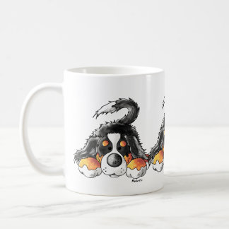 Funny Bernese Mountain Dog Cartoon Coffee Mug