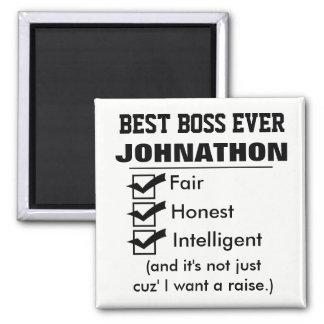 Funny Best Boss Ever Magnet
