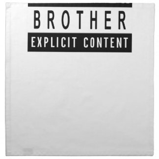 Funny Best Brother Ever T-Shirt Perfect Gift Napkin