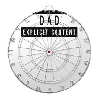 Funny Best Dad Ever T-Shirt Perfect Gift Dartboard