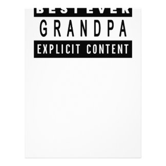 Funny Best Grandpa Ever T-Shirt Perfect Gift Letterhead