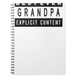 Funny Best Grandpa Ever T-Shirt Perfect Gift Notebooks