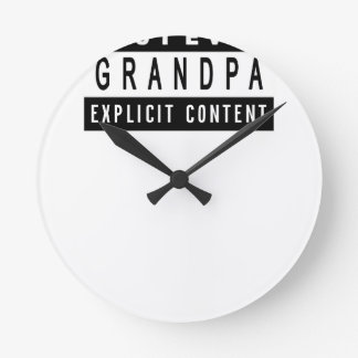 Funny Best Grandpa Ever T-Shirt Perfect Gift Round Clock