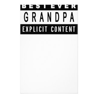 Funny Best Grandpa Ever T-Shirt Perfect Gift Stationery