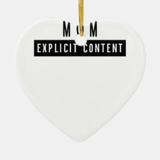 Funny Best Mom Ever T-Shirt Perfect Gift Ceramic Ornament