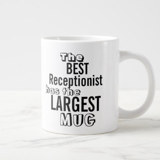 Funny Best RECEPTIONIST Big Mug Office Quote