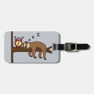 Funny Better Late than Never Sloth Bag Tag