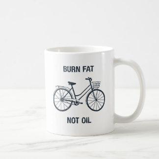 Funny Bicycle Burn fat not oil statement mug