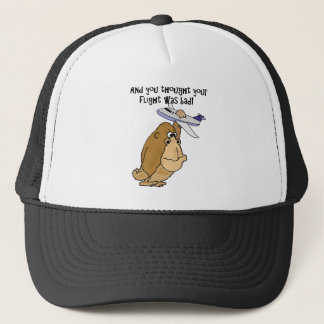 Funny Big Ape Holding Airplane Cartoon Trucker Hat