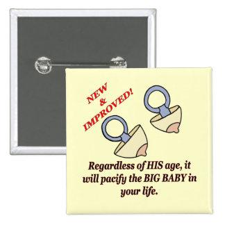 Funny Big Baby T-shirts Gifts Pin