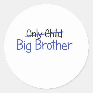 Funny Big Brother Design Round Sticker
