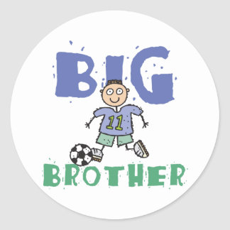 Funny Big Brother Round Sticker