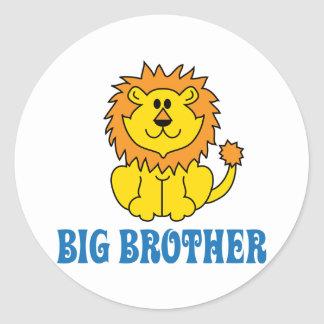 Funny Big Brother Round Stickers