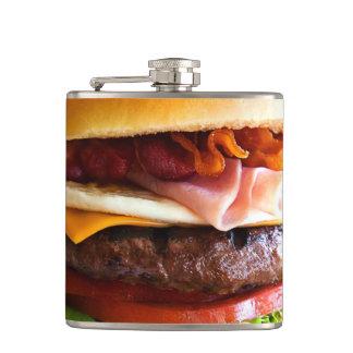Funny big burger hip flask